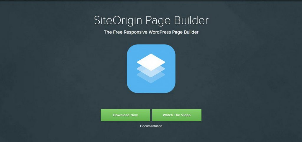 SiteOrigin Page Builder WordPress demo