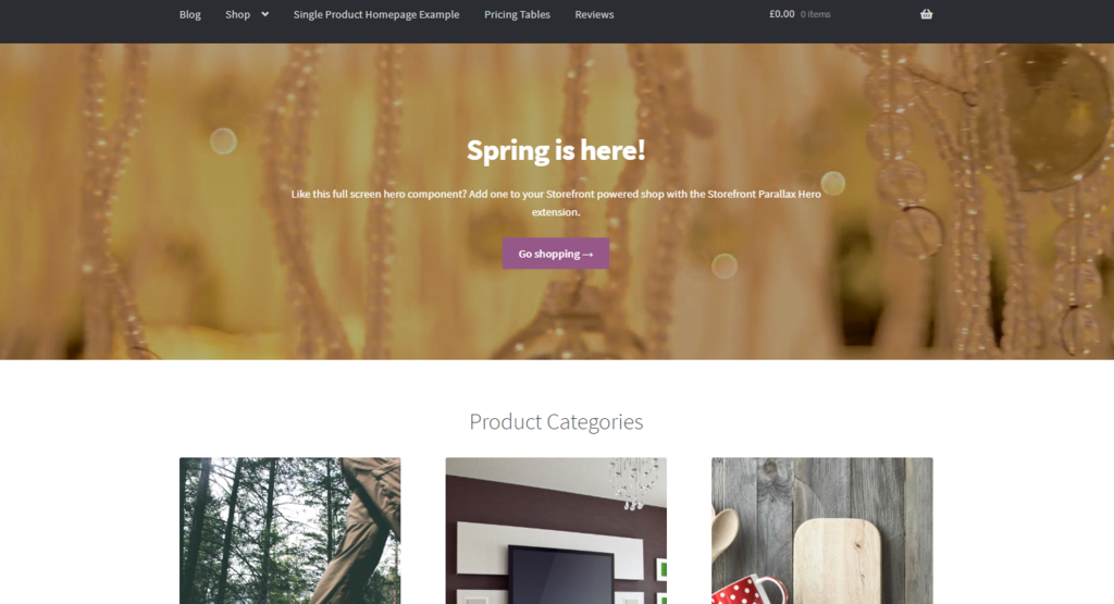 Tema Storefront para sitios de WooCommerce