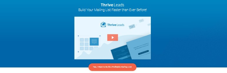 Plugin Thrive Leads para wordpress