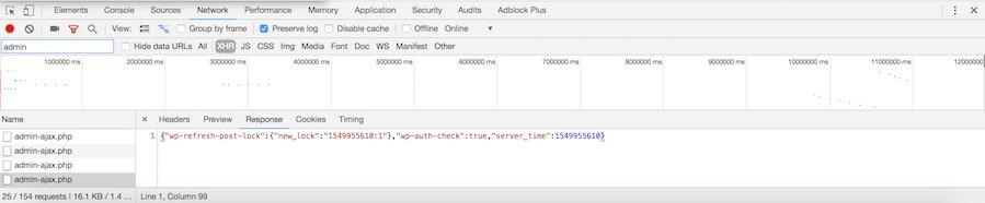Admin-ajax.php activado en el backend