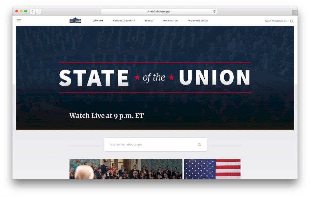 Página oficial de la Casa Blanca