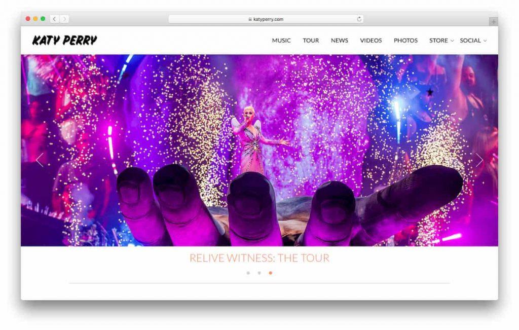 Página oficial de Katy Perry