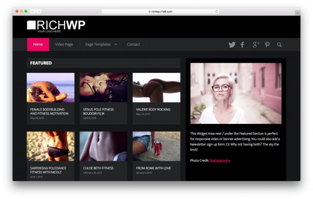 video world wordpress video theme