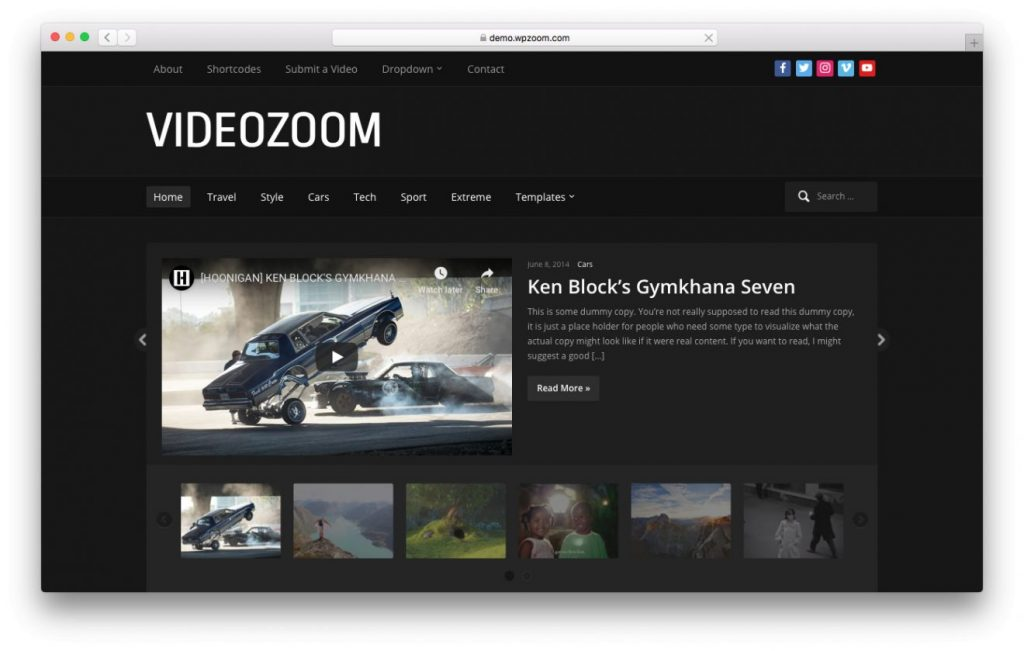 tema de video videozoom wordpress
