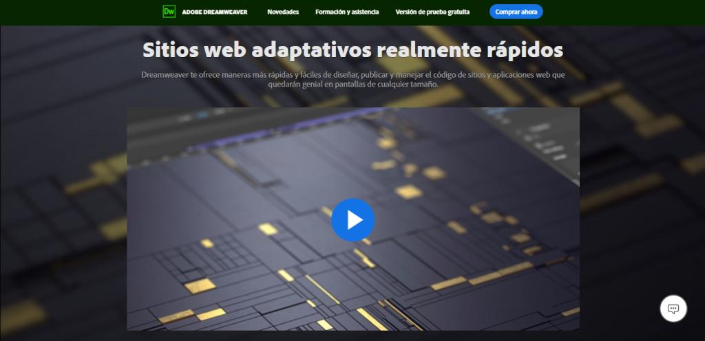 Adobe Dreamweaver CC Página de Inicio