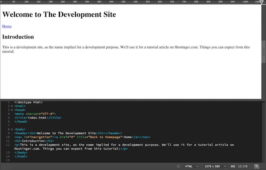 Agregar el texto de descripción del sitio web