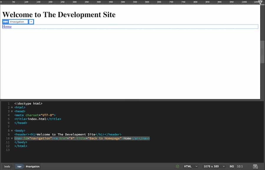 Agregar botón de navegación al sitio web