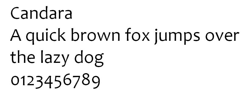 Tipografía Candara