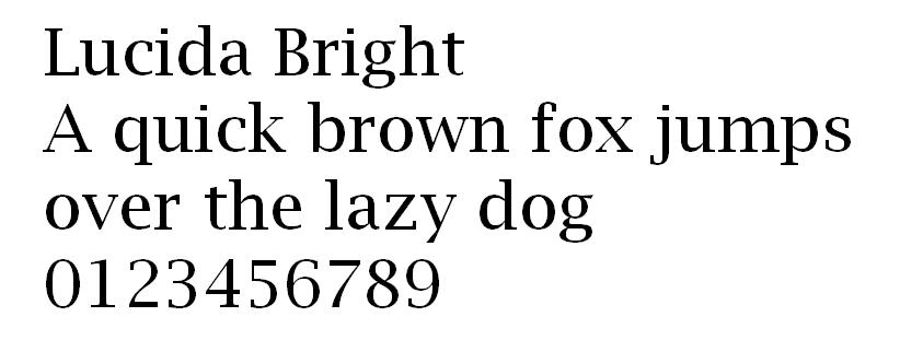 Lucida Bright fuente