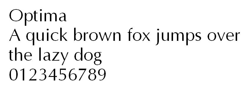 Tipo de letra Optima