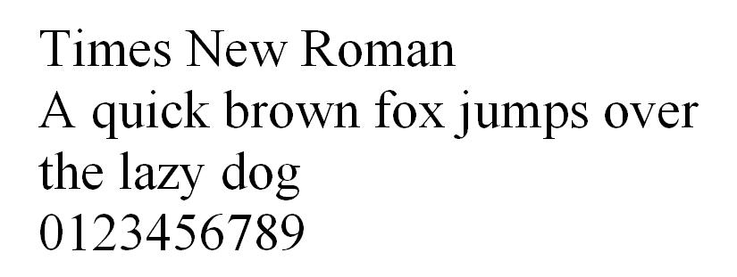 Fuente Times New Roman HTML