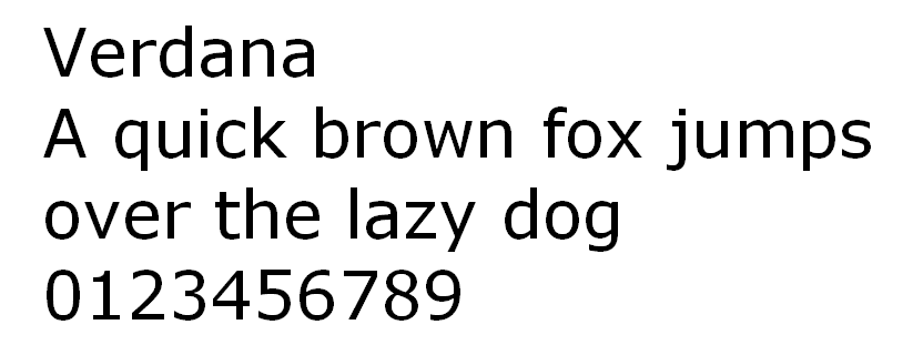 Fuente HTML Verdana
