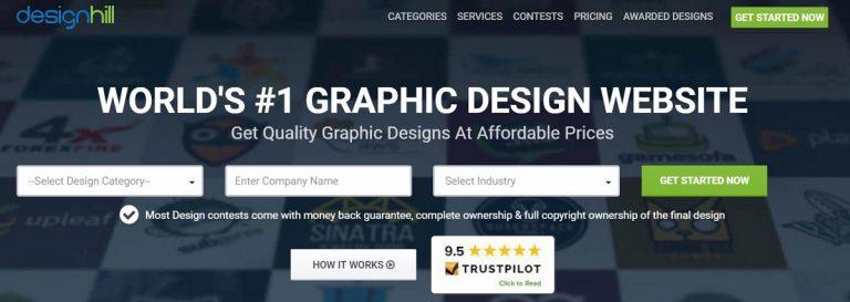 Designhill búsqueda de empleo para diseñador