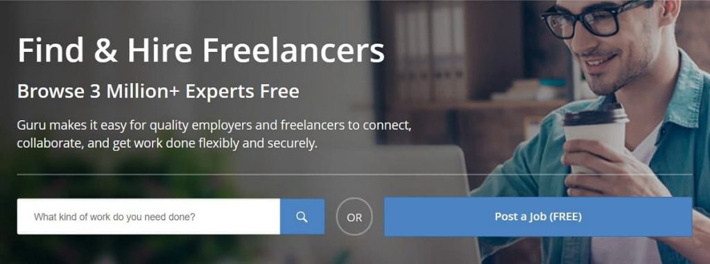 Sitio web freelance de Guru