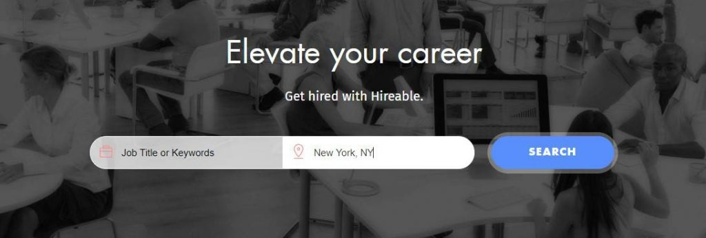 Hireable página de trabajo freelance