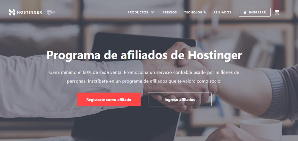 marketing afiliados con hostinger