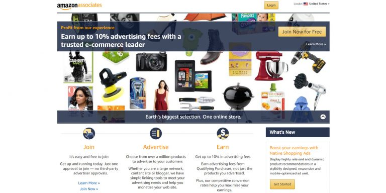 Afiliado de Amazon sobre cómo ganar dinero con un blog