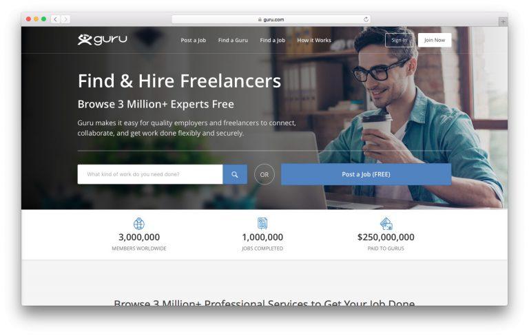 Guru ofrece trabajos independientes para desarrolladores web