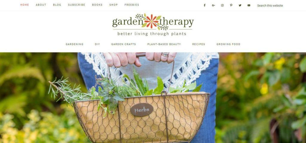 Página de inicio de Blog de jardinería de terapia de jardín