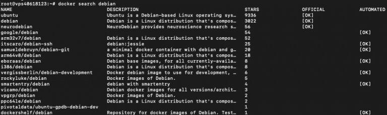 Resultados de búsqueda de Docker para la consulta Debian