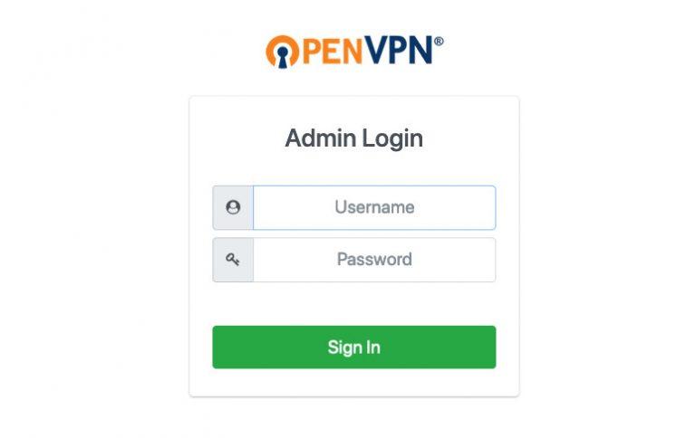 Abrir la pantalla de inicio de sesión del cliente administrador VPN