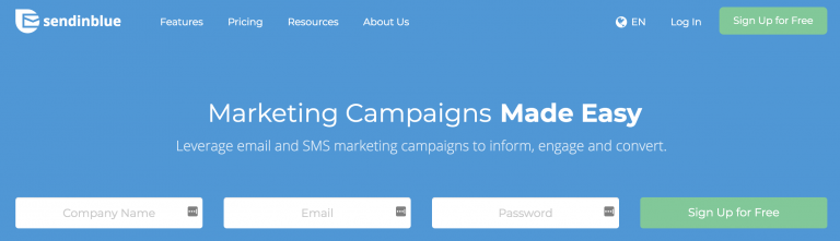 SendInBlue Herramientas de email marketing