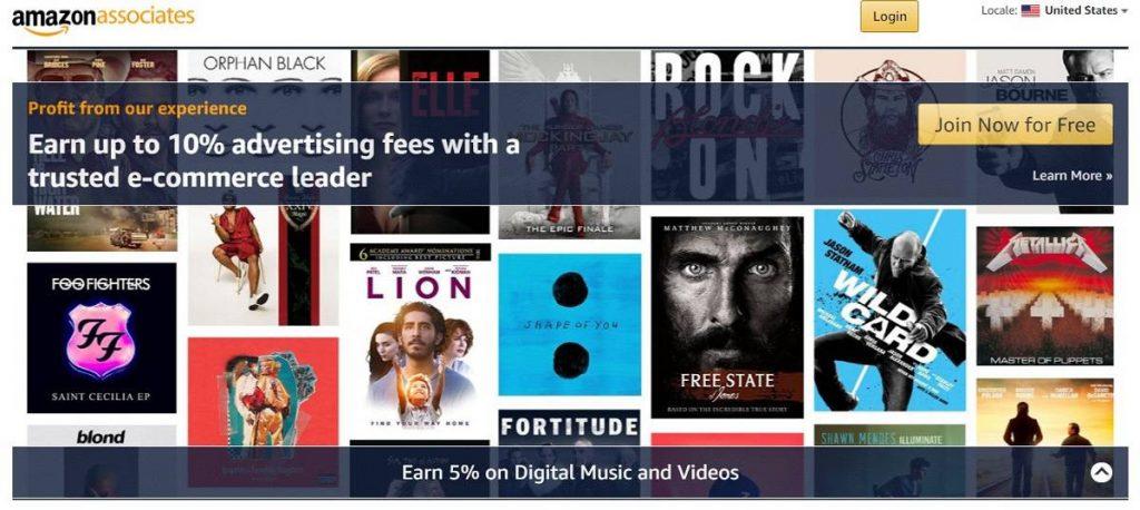 Programa de afiliación de Amazon para comercio electrónico
