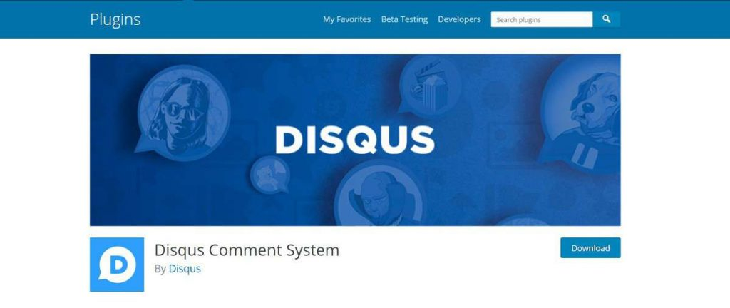 Disqus comment wordpress plugin