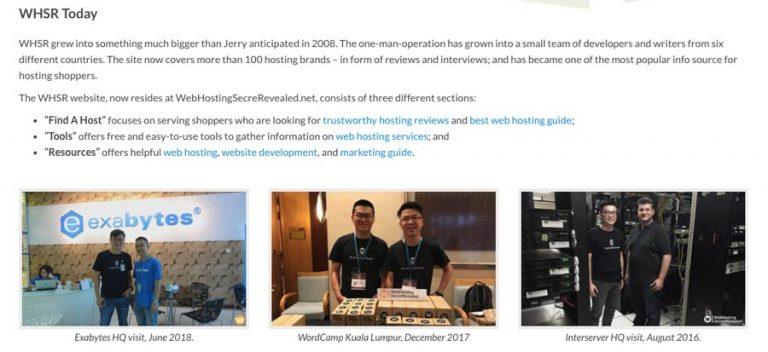 Ejemplo de sitio web de marketing de afiliados - WebHostingSecretRevealed