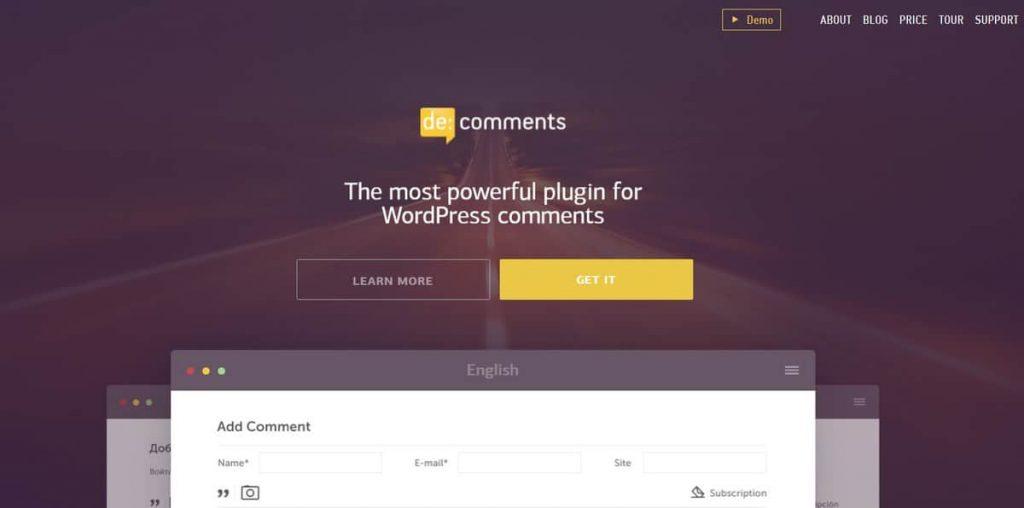 descomment es un plugin de comentarios increíble de wordpress