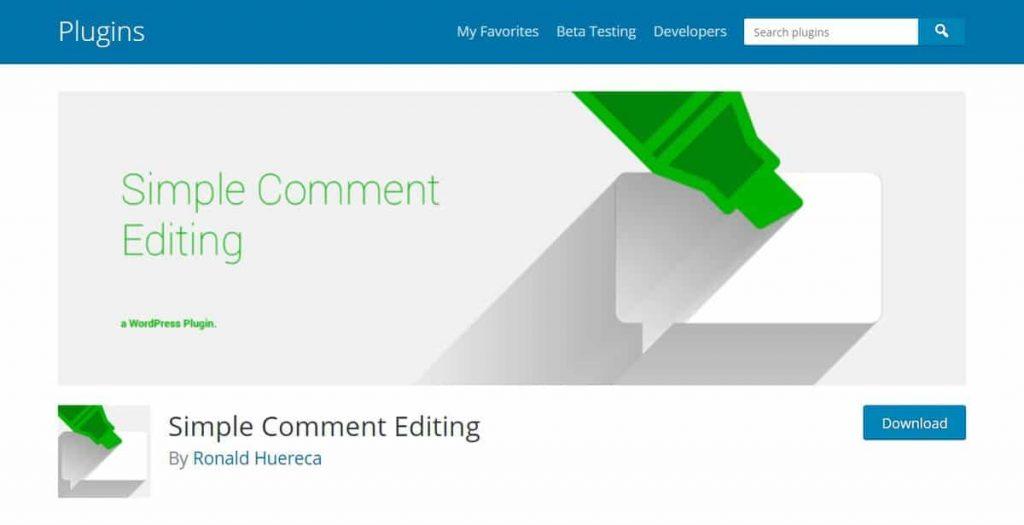Complemento simple de edición de comentarios de WordPress