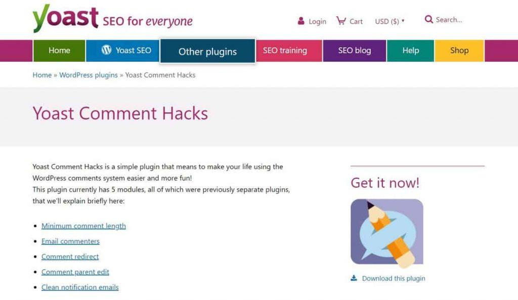 Yoast Comment Hacks es un gran complemento de comentarios de WordPress.