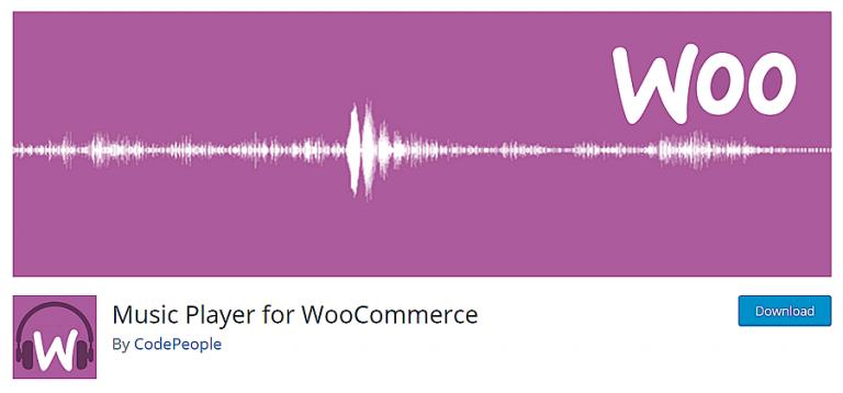 reproductor de música para woocommerce