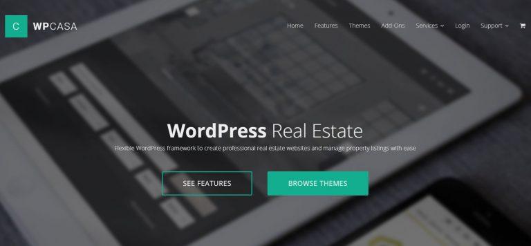 Página de inicio del sitio web del plugin wpcasa WordPress