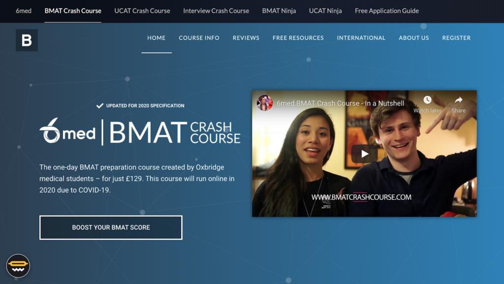 Página de inicio de BMAT Crash Course