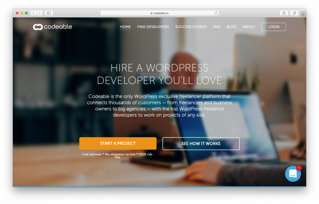 Codeable es una gran plataforma para contratar a un freelancer de WordPress