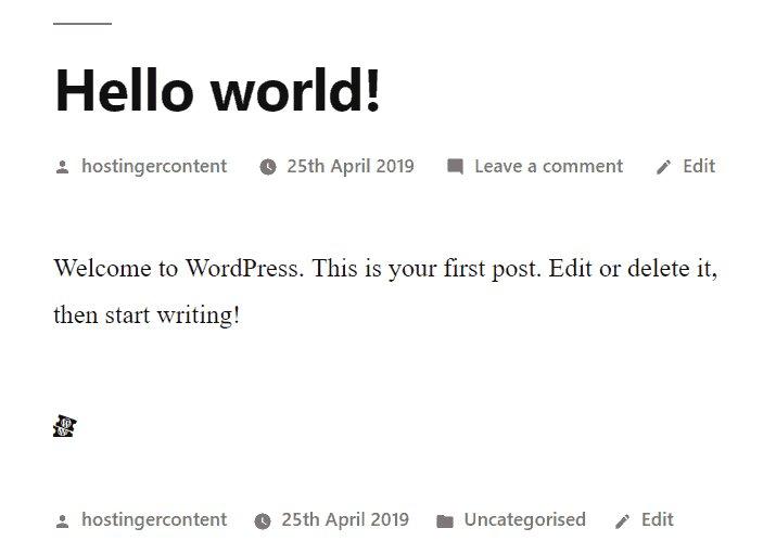 La vista previa del icono de ticket de WordPress de Dashicons en la publicación