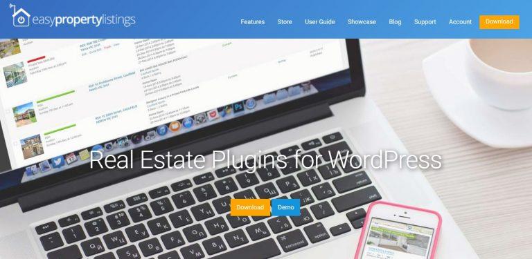 listado de propiedades fácil Página de inicio de WordPress Plugin