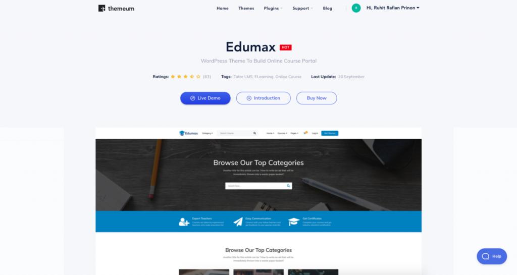 Página temática de Edumax