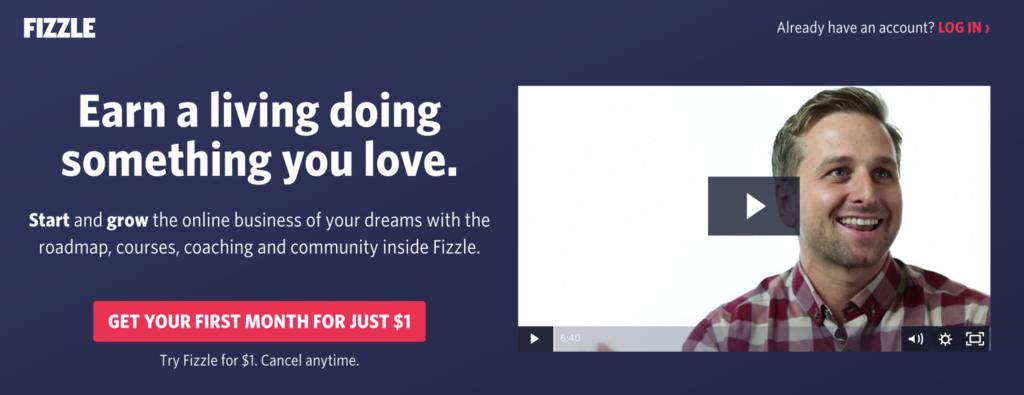 fizzle homepage cursos en línea