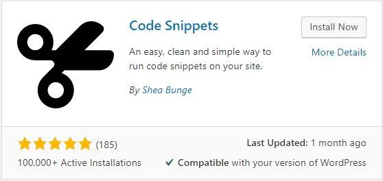 Complemento de fragmentos de código