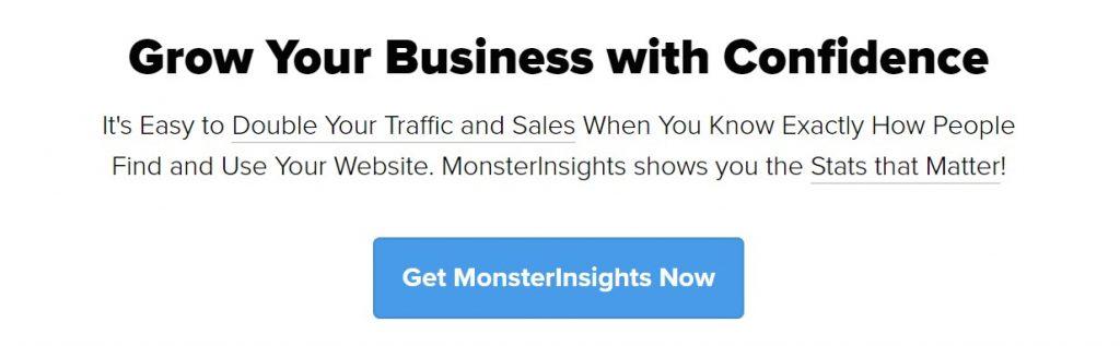 plugin de WP de MonsterInsights Google Analytics
