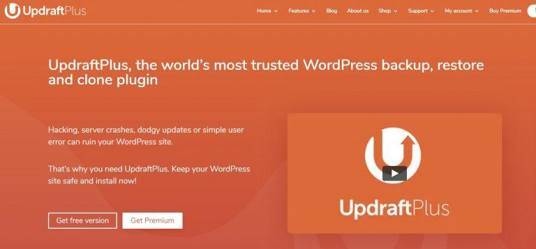 UpdraftPlus WordPress plugins página de inicio oficial
