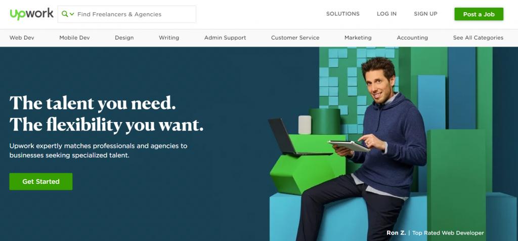 Upwork es una de las mejores plataformas independientes negocios online.