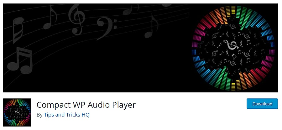 plugin compacto de wordpress para reproductor de audio wp