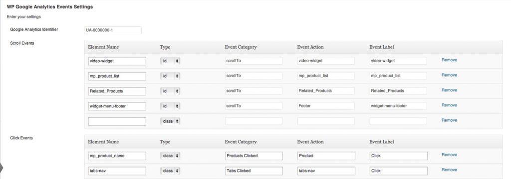 Cómo configurar un evento en WP Google Analytics Event