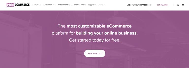 página de inicio de woocommerce para crear tienda dropshipping