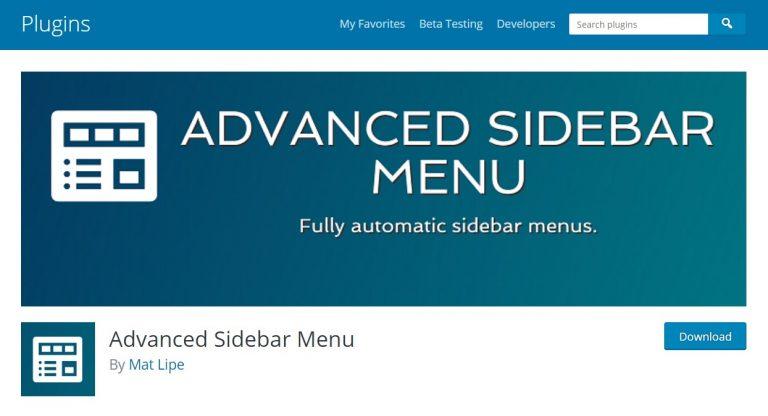 El menú avanzado de la barra lateral es un complemento de menú de WordPress para usuarios de WordPress
