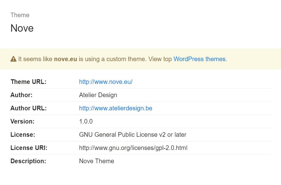 herramienta para detectar tema codeinwp wordpress