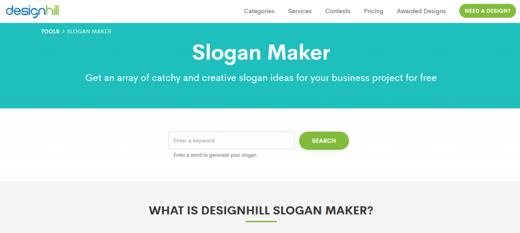 Design Hill crear Slogan